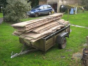 Seasoned planks for floorboards
