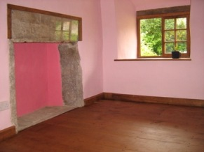 Oak floor in White Cottage (our daughter prefers pink!)