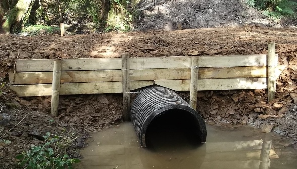 Culvert work in progress