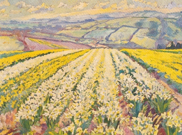 Daffodils at Treragin circa 1992 (painting by Mary Martin)