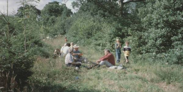 A family get together at Treragin (many years ago!)