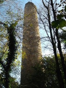 Harrowbarrow Mine chimney
