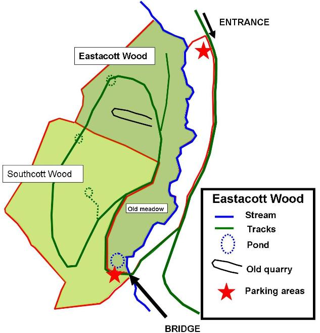 Eastacott Wood map 0715